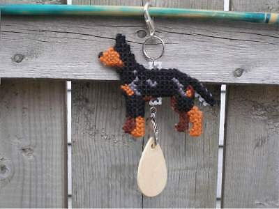 Manchester Terrier Standard dog crate tag or hang anywhere handmade pet sign art