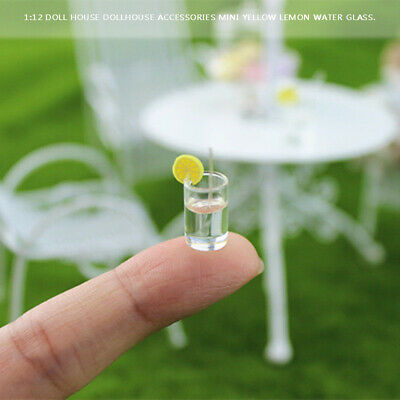 Miniature Lemon Water Cups For 1:12 Dollhouse Kitchen Accessories Decor Toy