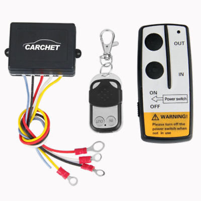 DC12V CARCHET Wireless Remote Control Winch Kit For Truck Jeep ATV Car 15M/50ft