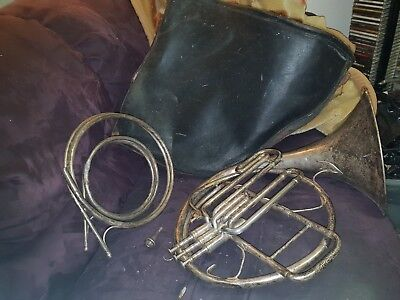 VINTAGE ANTIQUE FRENCH HORN,  BOOSEY & Co Ltd London 125885 Trade Marked 1930s