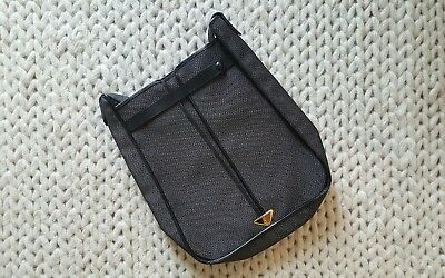 89967fb97e Vintage YSL Yves Saint Laurent Navy Black trim Leather Shoulder Messenger  Bag