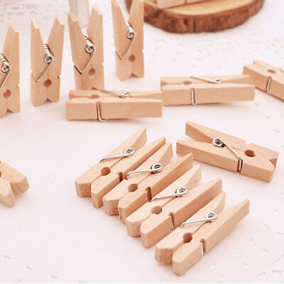 A087 50Pcs Photo Picture Wall Hanging Frame Wooden Clip Cloth DIY Home Decor Gif