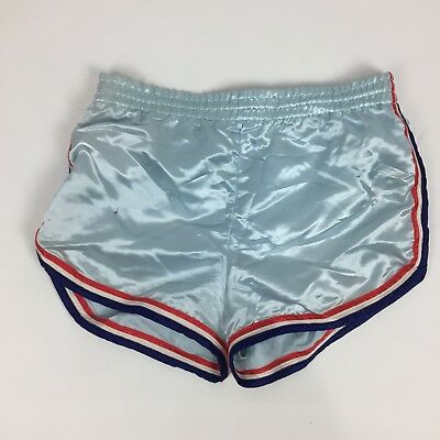 VINTAGE MENS 60's 70's SHINY SATIN Shorts Beach Boy by Andmore Large  TT9