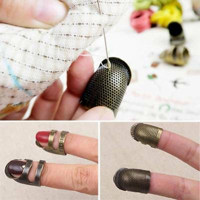 Retro Handworking Sewing Thimble Finger Ring Sewing Knitting Tools Accessories