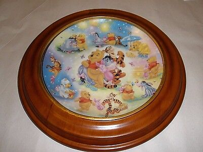 """Winnie the Pooh Forever Friends collector plate """"Hundred Acre Happiness"""" & FRAME"""
