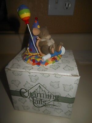 """Charming Tails by Fitz and Floyd """"Take Time To Dream"""" 89/131 Mouse Napping / Box"""