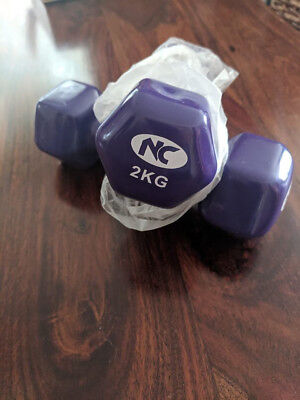 Workout Weights 2kg. Brand new, never been used, so excellent condition