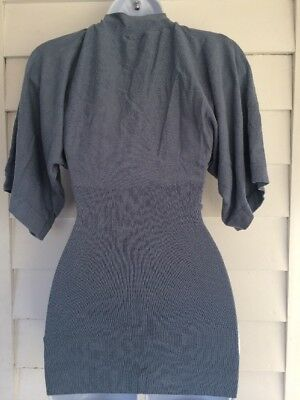 Mama H&M Blue Gray Stretch Maternity Nursing Top Sweater Size Small GUC