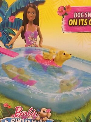 Barbie Pup Swimmin' Pool Puppy African American Doll Water Toy