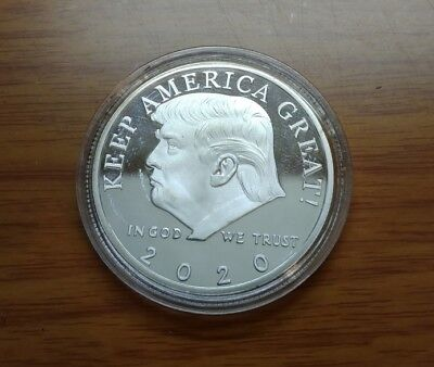 Donald Trump 2020 Silver Challenge Coin KEEP AMERICA GREAT!