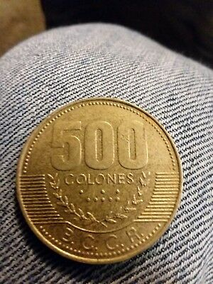 COSTA RICA 500 Colones Coins World Money Circa 2003 Currency