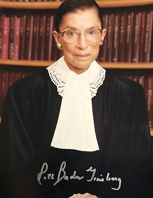 Ruth Bader Ginsburg AUTHENTIC SIGNED 8x10 Bill Clinton Supreme Court Justice