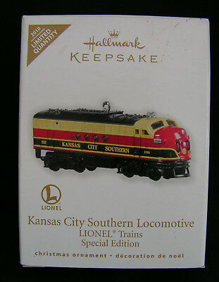 HALLMARK KEEPSAKE Ltd  Quantity  Kansas City Southern Locomotive LIONEL