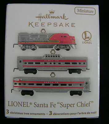 "2011 Hallmark Keepsake Miniature Ornaments ""LIONEL Santa Fe SUPER CHIEF"" (HM 37)"