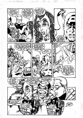 GEORGE PEREZ - Avengers v2 #14 p6, Beast returns, Team out for drinks