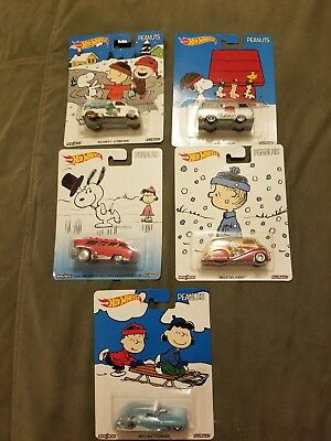 Snoopy peanuts hotwheels set a 5 collection Real riders