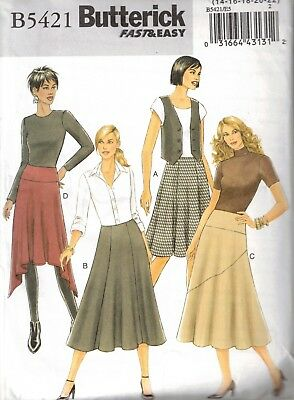 Butterick - Pattern 5421 - Women's Skirts with Variations - Sizes 14-22 - $7.50