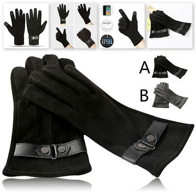 Winter Men's Casual Outdoor Sports Riding Gloves Warm Windproof Mittens