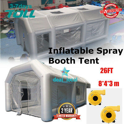 26FT Paint Booth Inflatable Car Workstation Spray booth Tent Fan Spray booth