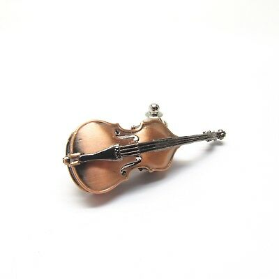 STRING BASS Pin/Brooche - Bronze Plated Upright Double Bass - NWT Music Gifts