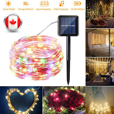 100/200LED Outdoor Solar Powered Copper Wire Light String Fairy Party Decor Lamp