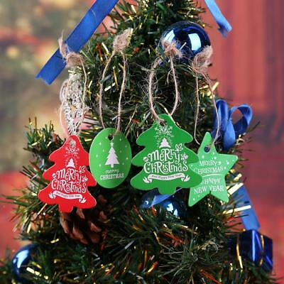 100pcs Christmas Holiday Party Hanging Paper Tags Favor Gift Card Label Decor