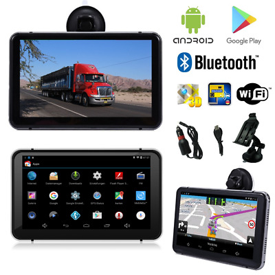 7 Zoll Android Navigationsgerät PKW LKW Wohnmobile Bluetooth Wifi PlayStore FM