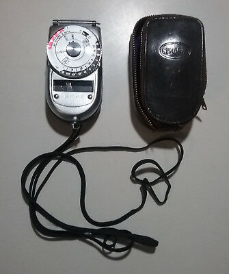 Sekonic Light Meter Model 38 With Leather Case Vintage Made In Japan