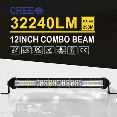 23inch CREE LED Light Bar Spot Flood Driving Lamp+7IN Work Pods Offroad Truck