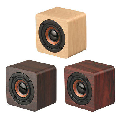 Classic Wooden Bluetooth 4.2 Speaker Portable Outdoor HiFi Bass Stereo Sound Box