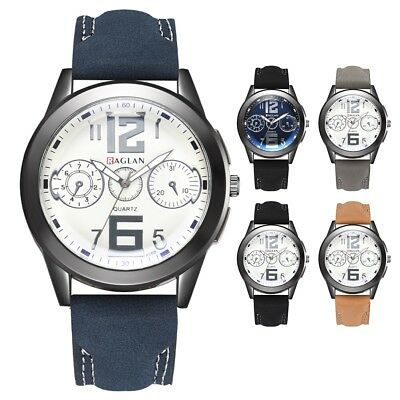 Vintage Classic Men's Waterproof Date Leather Strap Sports Quartz Army Watches