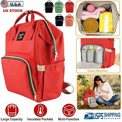 Mummy Maternity Nappy Diaper Bag Large Capacity Baby Bag Nursing Travel Backpack