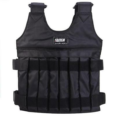 Adjustable Weighted Vest Weight Fitness Training Jacket Running Gym Waistcoat UK