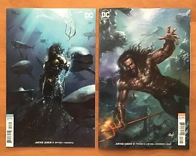 Justice League 11, 12 2018 Jim Lee, Lucio Parrillo Aquaman Movie Variants DC NM+