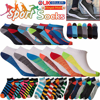 6 Pairs Mens Trainer Socks Cotton Ankle Liner Sports Work Sizes 6-11