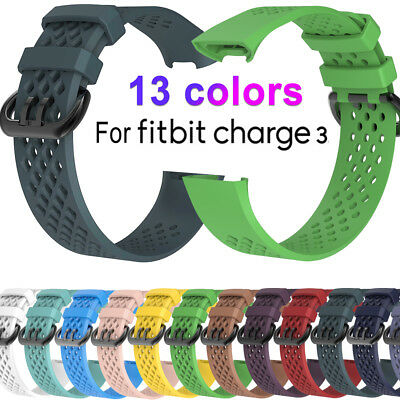 Replacement Wristband Band for Fitbit Charge 3 Fitness Premium Strap Large/Small