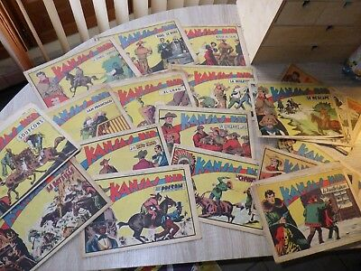 Lot environ 20 exemplaires SAGE anciens KANSAS KID Année 1949 ill. Carlo Cossio