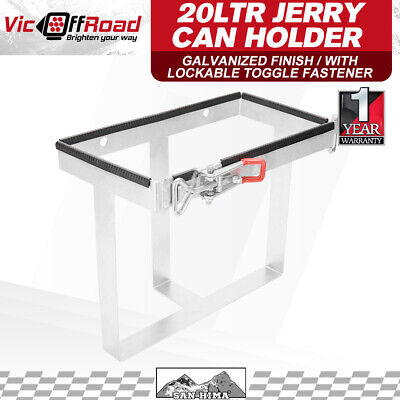 20L Jerry Can Holder Galvanized For Trailer Camping Caravans & 4WD'S 20 Litre