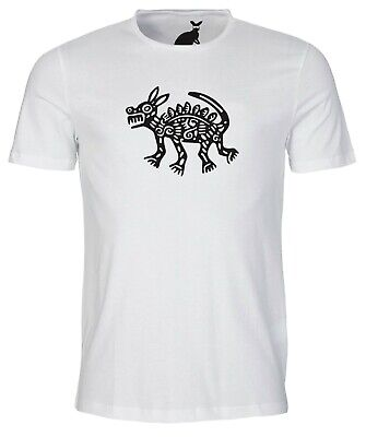Ancient Aztec Mexican Dog Art Design MENS T SHIRT snake Mexico Inca Mayan dogs