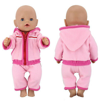 Children Gifts Baby Clothes 43cm Fit 17 inch American Doll Suit Sport Dresses