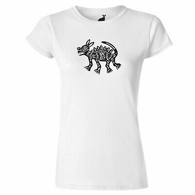 Ancient Aztec Mexican Dog Art Design WOMENS T SHIRT snake Mexico Inca Mayan dogs