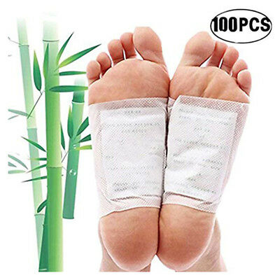 Bamboo Vinegar Foot Pads Detox Patch Detoxify Adhesive 100 Pads Foot Care