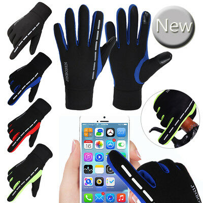 Mens Winter Warm Windproof Waterproof Fleece Lined Thermal Touch Screen Gloves
