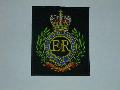 Royal Engineers Corps Embroidered Cloth Crest Badge - Sew On - New