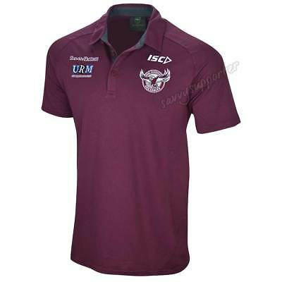 Manly Sea Eagles 2019 NRL Dark Scarlet Polo Shirt Sizes S-5XL BNWT