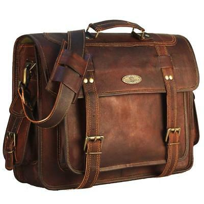 d9a842ce5a83 USA Men Briefcase Leather Business Shoulder Bag Messenger Satchel Laptop  Handbag