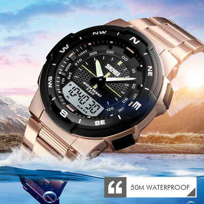SKMEI Fashion Mens Smart Watches Bluetooth Digital Sports Waterproof Watch