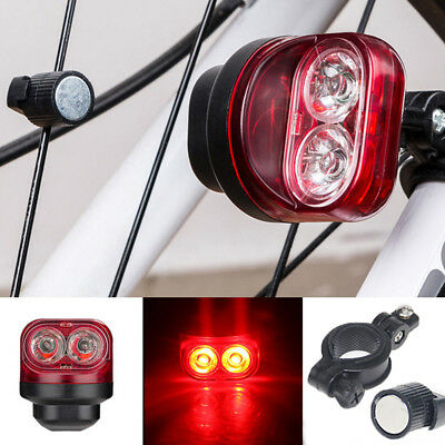 Cycling Bike Bicycle Magnetic Induction Light Warning Rear Tire Lamp Opulent