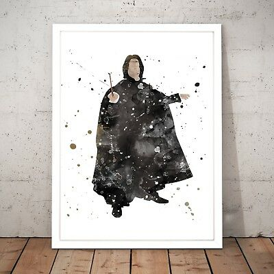Harry Potter Severus Snape Wizard Unique Art Poster Print - A3 A2 A1 A0 Framed