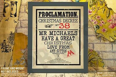 Personalised Harry Potter Picture Print Gift Christmas Present Canvas